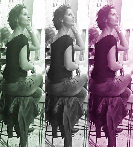 Une fille dans le vent - Bar à vin Le garde robe